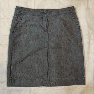 TALBOTS Size 4 Railroad Stripe Stretch Denim Skirt